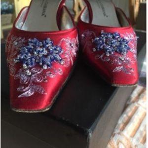 Vintage Dolce & Gabbana Embellished w/Beading Red